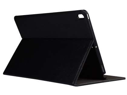 Synthetic Leather Flip Case with Stand for iPad Pro 10.5 - Black Leather Flip Case