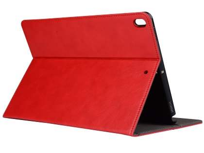 Synthetic Leather Flip Case with Stand for iPad Pro 10.5 - Red Leather Flip Case