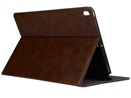 Synthetic Leather Flip Case with Stand for iPad Pro 10.5 - Brown Leather Flip Case
