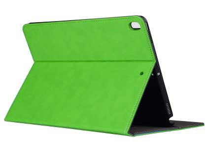 Synthetic Leather Flip Case with Stand for iPad Pro 10.5 - Green Leather Flip Case