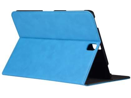 Synthetic Leather Flip Case with Stand for Samsung Galaxy Tab S3 9.7 - Sky Blue Leather Flip Case