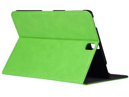 Synthetic Leather Flip Case with Stand for Samsung Galaxy Tab S3 9.7 - Green Leather Flip Case