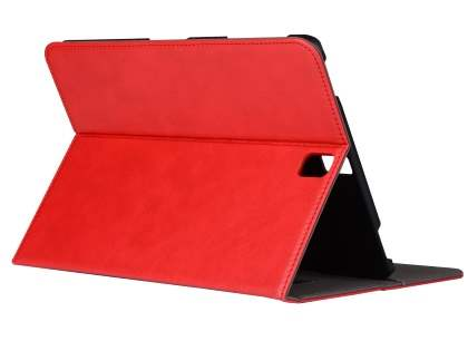 Synthetic Leather Flip Case with Stand for Samsung Galaxy Tab S3 9.7 - Red Leather Flip Case