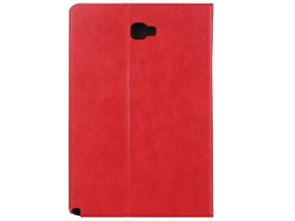 Synthetic Leather Flip Case with Stand for Samsung Galaxy Tab A 10.1 with S Pen - Red