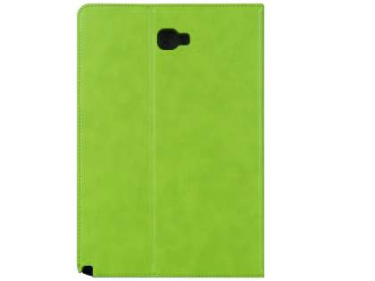 Synthetic Leather Flip Case with Stand for Samsung Galaxy Tab A 10.1 without S Pen - Green