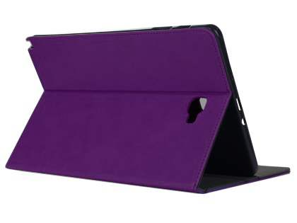 Synthetic Leather Flip Case with Stand for Samsung Galaxy Tab A 10.1 without S Pen - Purple Leather Flip Case
