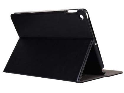 Synthetic Leather Flip Case with Stand for iPad 2/3/4 - Black Leather Flip Case