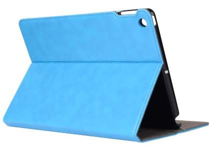 Synthetic Leather Flip Case with Stand for iPad 2/3/4 - Sky Blue Leather Flip Case