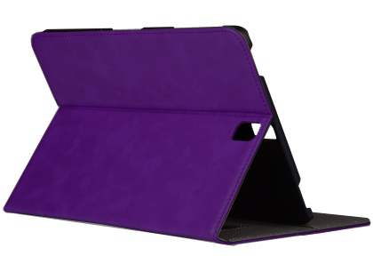 Synthetic Leather Flip Case with Stand for Samsung Galaxy Tab S3 9.7 - Purple Leather Flip Case