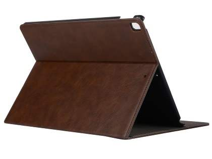 Synthetic Leather Flip Case with Stand for iPad Pro 12.9 - Brown Leather Flip Case