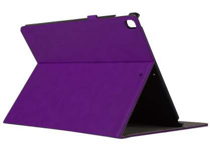 Synthetic Leather Flip Case with Stand for iPad Pro 12.9 - Purple Leather Flip Case