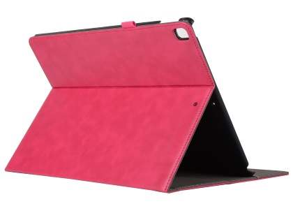 Synthetic Leather Flip Case with Stand for iPad Pro 12.9 - Pink Leather Flip Case