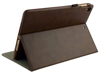 Synthetic Leather Flip Case with Stand for iPad 9.7 (2018/2017) / Pro 9.7 / Air 2 / Air - Brown Leather Flip Case
