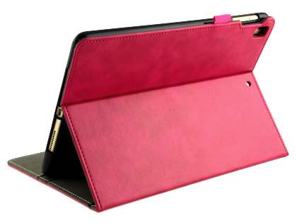 Synthetic Leather Flip Case with Stand for iPad 9.7 (2018/2017) / Pro 9.7 / Air 2 / Air - Pink Leather Flip Case