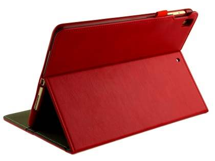 Synthetic Leather Flip Case with Stand for iPad 9.7 (2018/2017) / Pro 9.7 / Air 2 / Air - Red Leather Flip Case