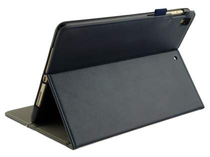 Synthetic Leather Flip Case with Stand for iPad 9.7 (2018/2017) / Pro 9.7 / Air 2 / Air - Midnight Blue Leather Flip Case