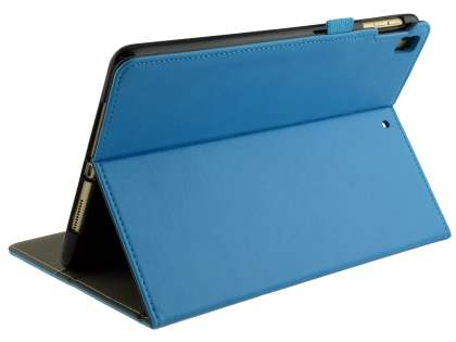 Synthetic Leather Flip Case with Stand for iPad 9.7 (2018/2017) / Pro 9.7 / Air 2 / Air - Sky Blue Leather Flip Case