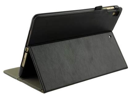 Synthetic Leather Flip Case with Stand for iPad 9.7 (2018/2017) / Pro 9.7 / Air 2 / Air - Black Leather Flip Case