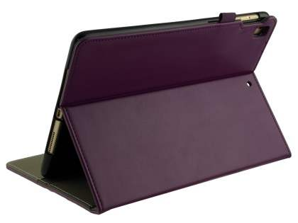 Synthetic Leather Flip Case with Stand for iPad 9.7 (2018/2017) / Pro 9.7 / Air 2 / Air - Purple Leather Flip Case