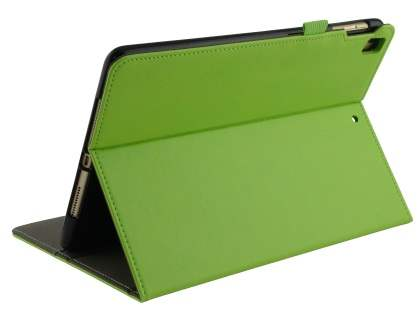 Synthetic Leather Flip Case with Stand for iPad 9.7 (2018/2017) / Pro 9.7 / Air 2 / Air - Green Leather Flip Case