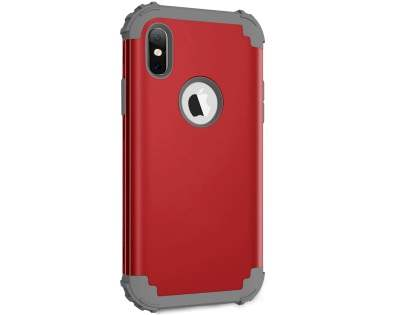 Defender Case for iPhone X - Red Impact Case