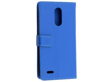 Synthetic Leather Wallet Case with Stand for Telstra Signature 2 - Blue Leather Wallet Case