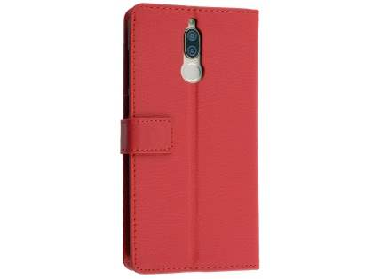 Synthetic Leather Wallet Case with Stand for Huawei Nova 2i - Red Leather Wallet Case
