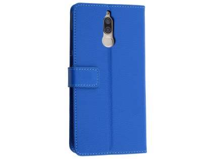 Synthetic Leather Wallet Case with Stand for Huawei Nova 2i - Blue Leather Wallet Case