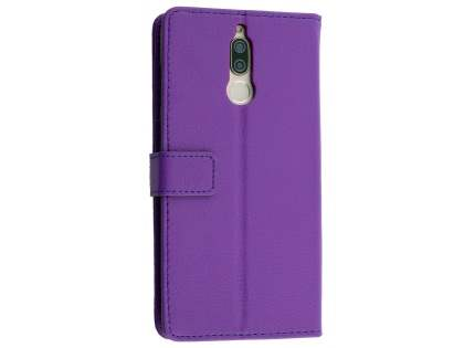 Synthetic Leather Wallet Case with Stand for Huawei Nova 2i - Purple Leather Wallet Case