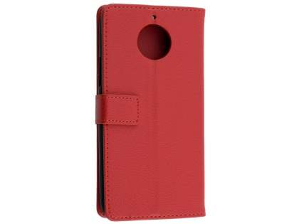 Synthetic Leather Wallet Case with Stand for Motorola Moto G5S PLUS - Red Leather Wallet Case