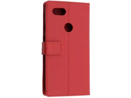 Synthetic Leather Wallet Case with Stand for Google Pixel 2 XL - Red Leather Wallet Case