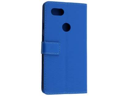 Synthetic Leather Wallet Case with Stand for Google Pixel 2 XL - Blue Leather Wallet Case
