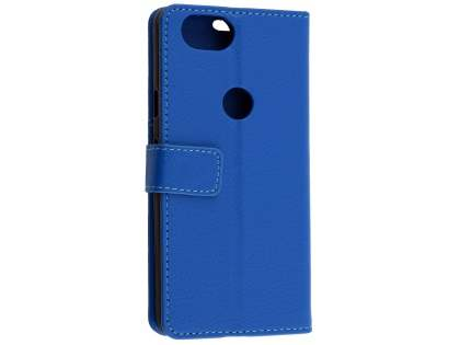 Synthetic Leather Wallet Case with Stand for Google Pixel 2 - Blue Leather Wallet Case