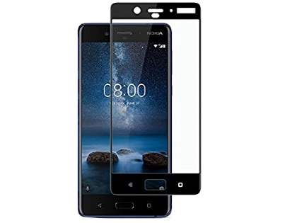 Curved Tempered Glass Full Screen Protector for Nokia 8 - Black/Clear Screen Protector