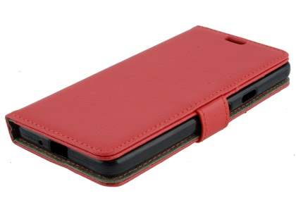 Synthetic Leather Wallet Case with Stand for Google Pixel 2 XL - Red