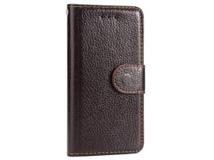 Slim Synthetic Leather Wallet Case with Stand for Apple iPhone 8 - Brown