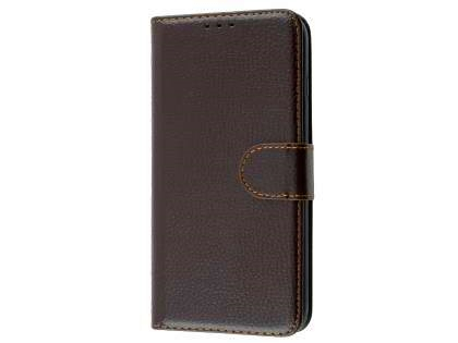 Slim Synthetic Leather Wallet Case with Stand for Apple iPhone 8 Plus - Brown Leather Wallet Case