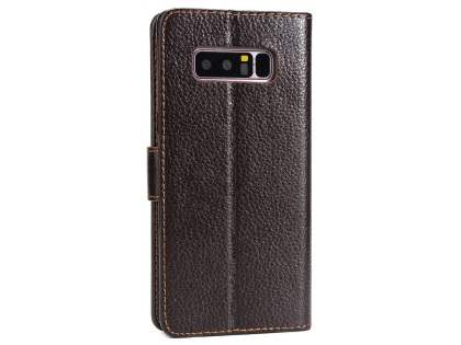 Slim Synthetic Leather Wallet Case with Stand for Samsung Galaxy Note 8 - Brown Leather Wallet Case