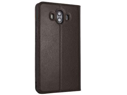 Top Grain Leather Case With Windows for Huawei Mate 10 - Brown