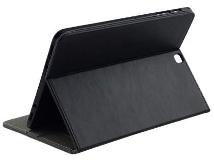 Synthetic Leather Flip Case with Stand for Samsung Galaxy Tab S2 9.7 - Black Leather Flip Case