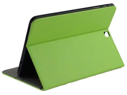 Synthetic Leather Flip Case with Stand for Samsung Galaxy Tab S2 9.7 - Green Leather Flip Case