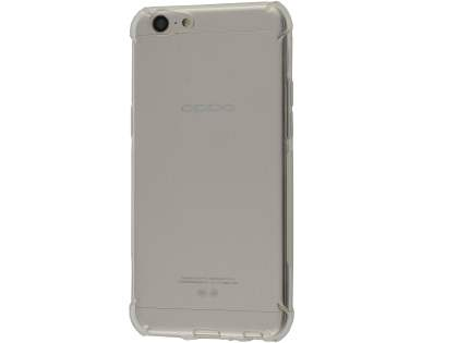 Gel Case with Bumper Edges for OPPO A57 - Clear Soft Cover
