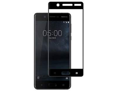 Curved Tempered Glass Full Screen Protector for Nokia 5 - Black/Clear Screen Protector