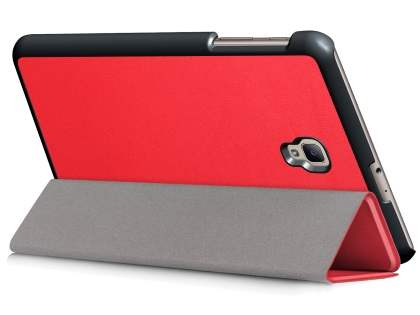Synthetic Leather Flip Case with Stand for Samsung Galaxy Tab A 8.0 (2017) - Red Leather Flip Case