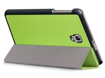 Synthetic Leather Flip Case with Stand for Samsung Galaxy Tab A 8.0 (2017) - Green Leather Flip Case
