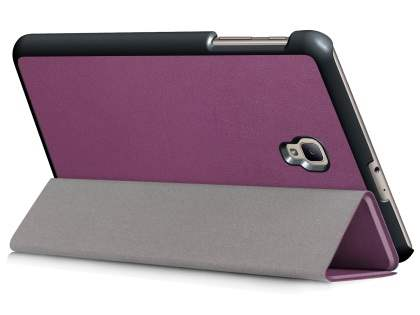 Synthetic Leather Flip Case with Stand for Samsung Galaxy Tab A 8.0 (2017) - Purple Leather Flip Case