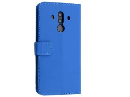 Synthetic Leather Wallet Case with Stand for Huawei Mate 10 Pro - Blue Leather Wallet Case