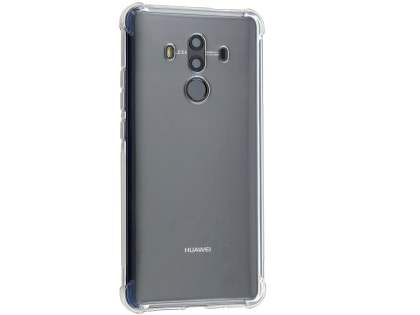 Gel Case with Bumper Edges for Huawei Mate 10 Pro - Clear Soft Cover