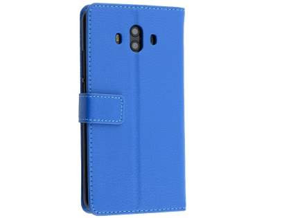 Synthetic Leather Wallet Case with Stand for Huawei Mate 10 - Blue Leather Wallet Case