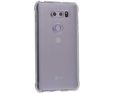 Gel Case with Bumper Edges for LG V30+/V30 - Clear Soft Cover